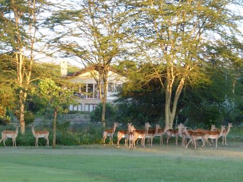 Ontspannend golfbaanhuis met een prachtig uitzicht
