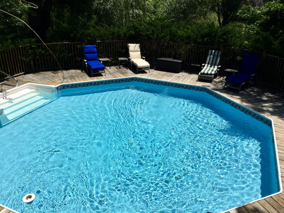 The pool is heated from May through end of September