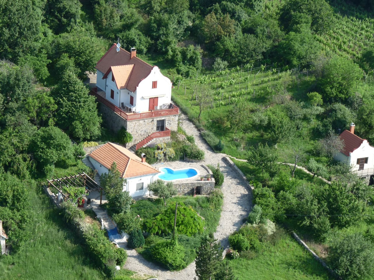 Villa from the air