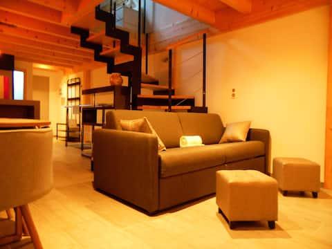 Duplex apartment in villa