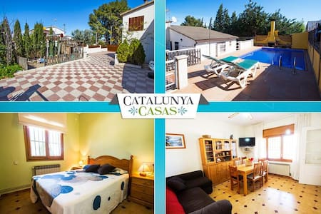 Angelic villa in Bellvei for 9 guests, only 3km from the beaches of Costa Dorada! - Costa Dorada