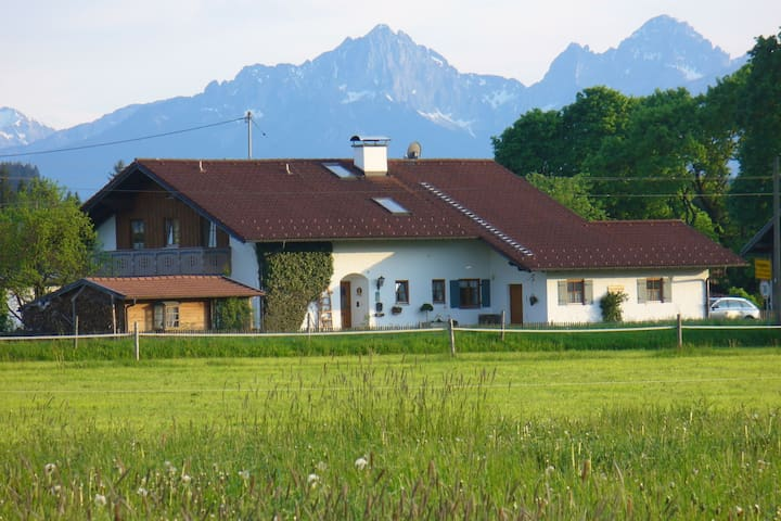 Comfortable apartment in Pfaffenwinkel in Upper Bavaria with private terrace