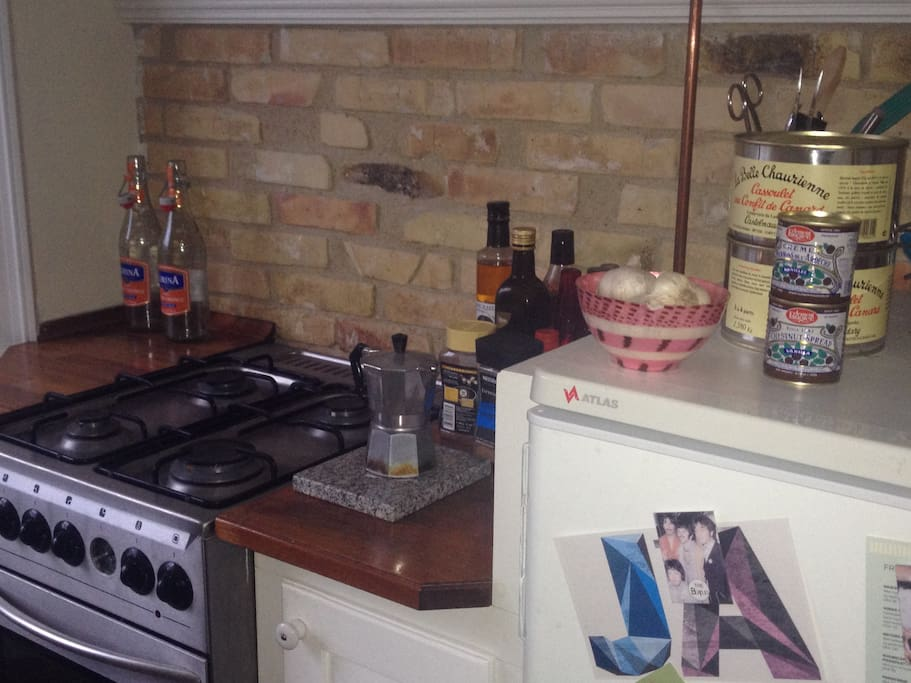 Nice and a kitchen with the basics.