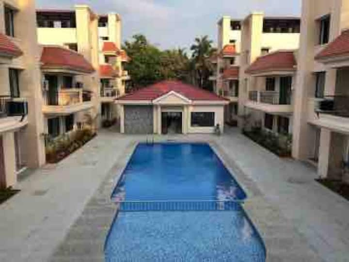 1 BHK with private terrace + WorkWifi in North Goa