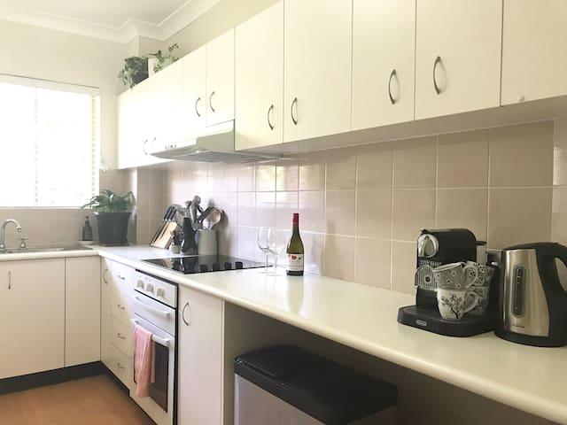 Kitchen - dishwasher, microwave, oven, Nespresso coffee etc.