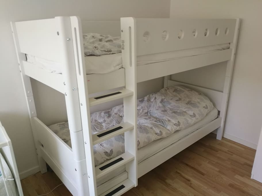 Bedroom 2 with adult sized bunk beds