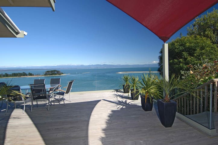 Decks are spacious & the glass balustrades don't block the view
