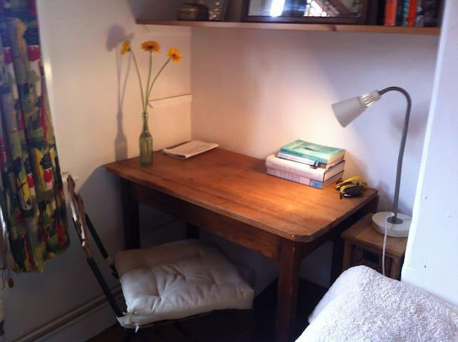Oak school desk (complete with graffiti..).