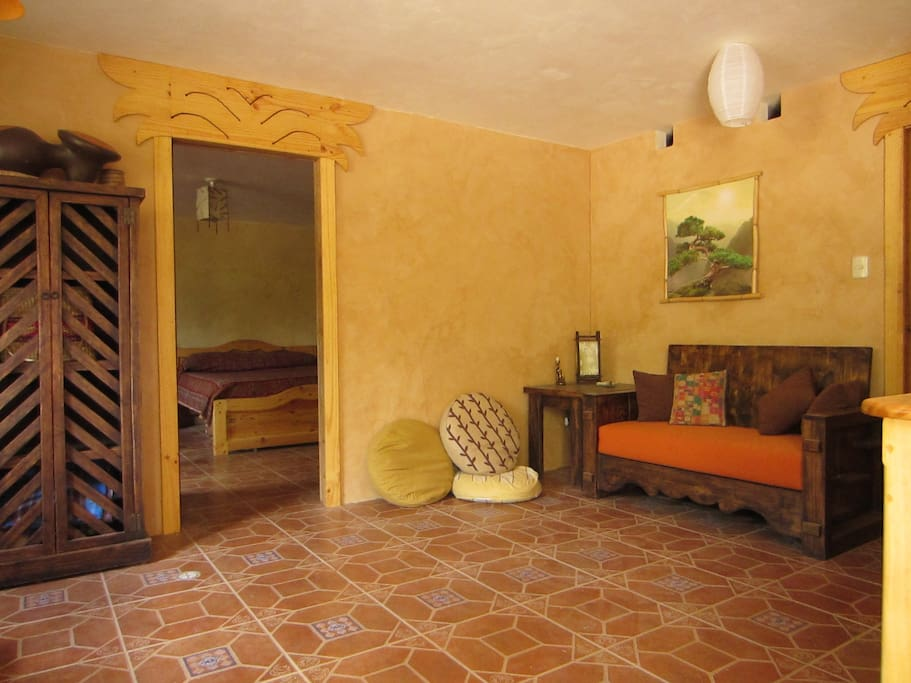 spacious living suite