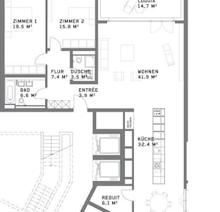 Fabulous Apartment with Home Cinema - 瓦利塞伦(Wallisellen) - 公寓