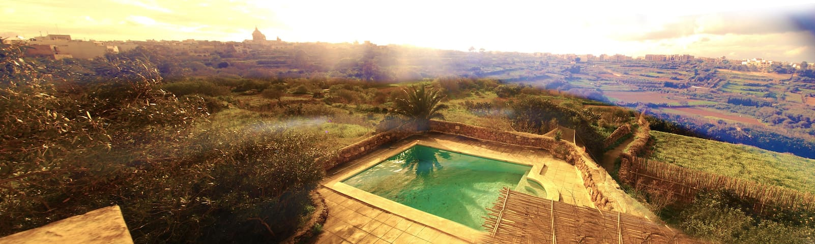 Panoramic Views in Idyllic Country house +Pool