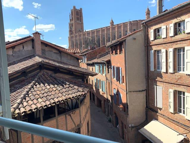 Appartement coeur de ville avec vue cathédrale