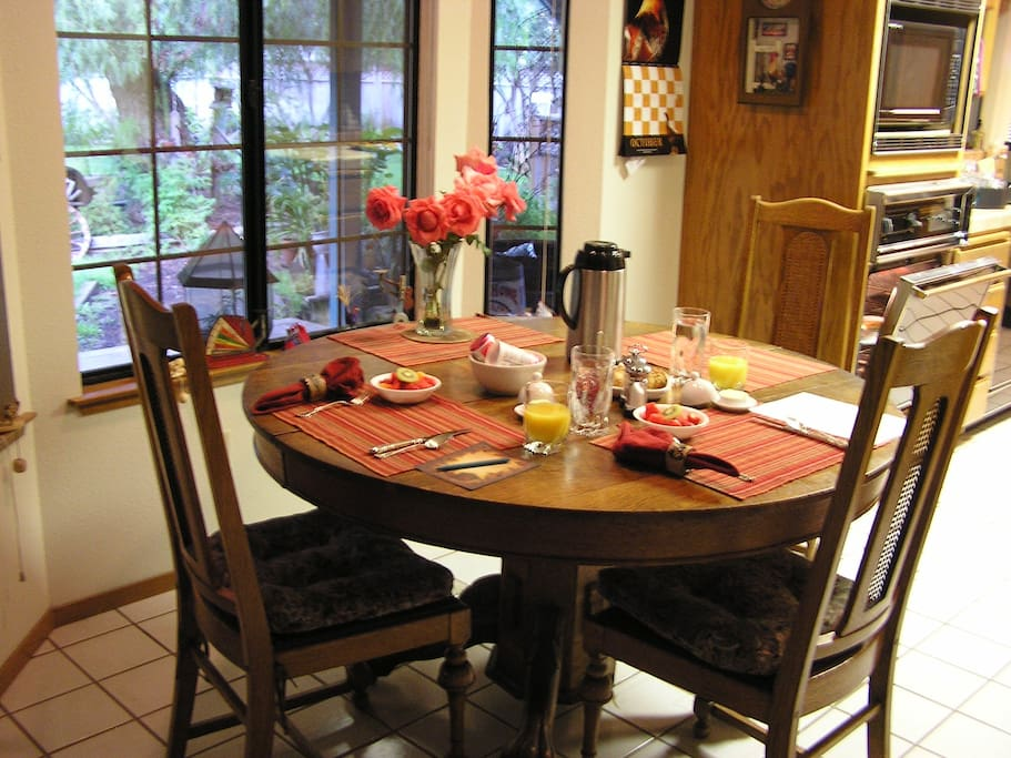 One of several dining areas.