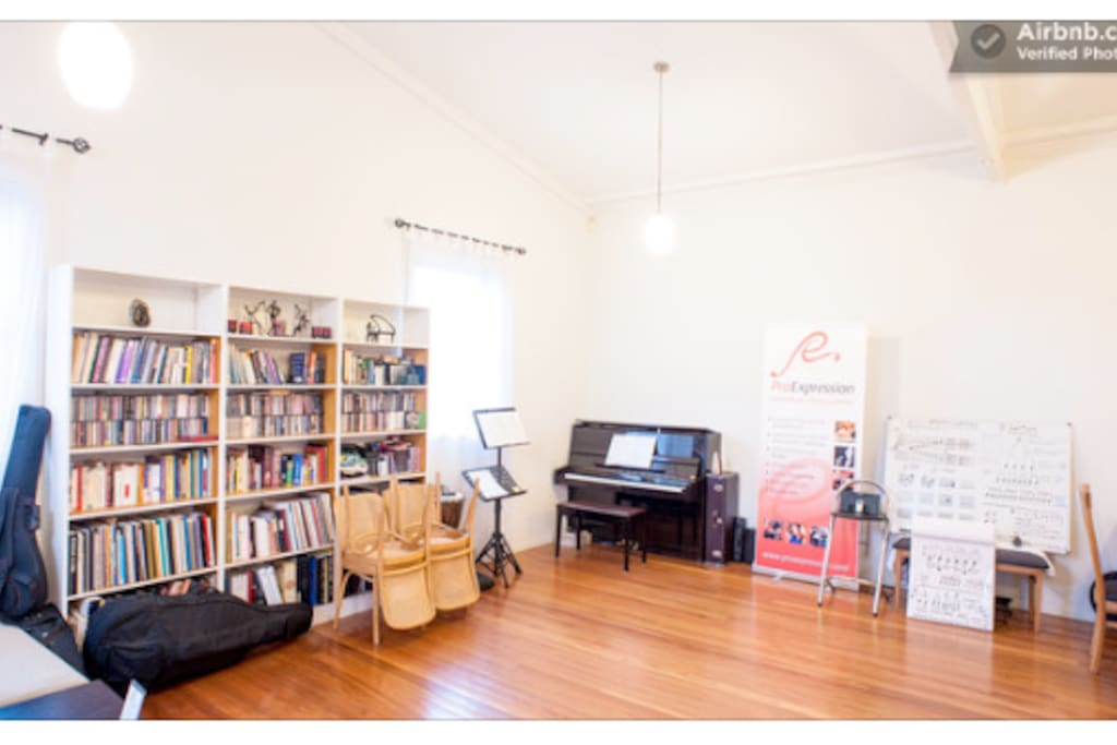 Welcome to Pro Expression Music School & Creative Alliance, enjoy your stay :) Main room