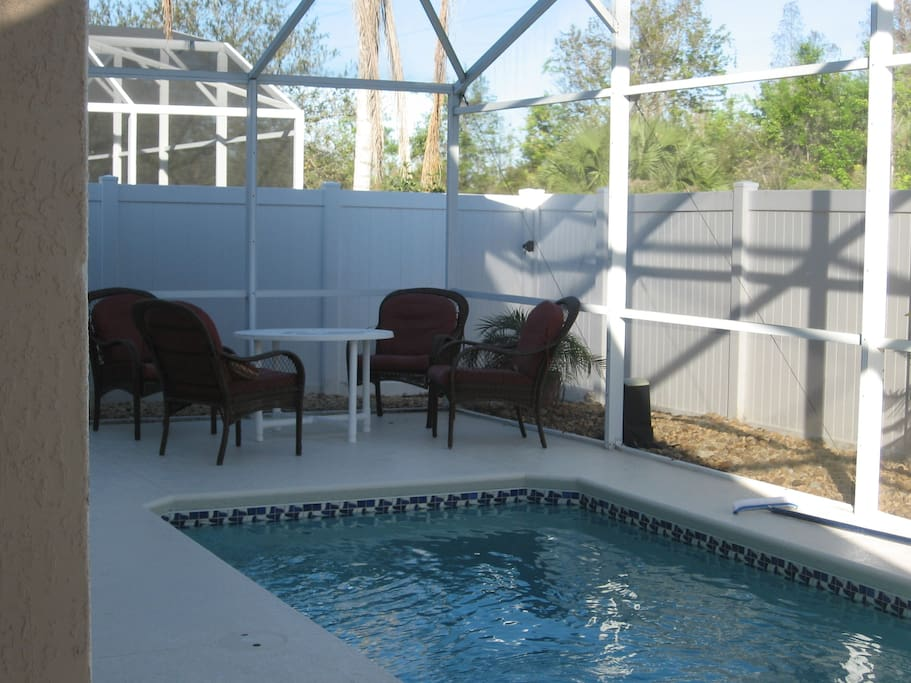 Included are two patio sets that seats up to eight people