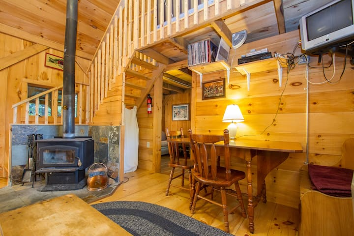 Dining table and woodstove