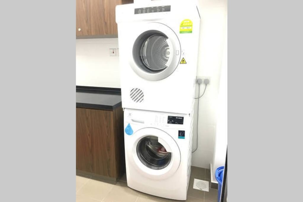 Washer and Dryer with soap powder
