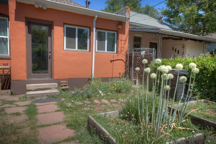 backyard with vegetable garden