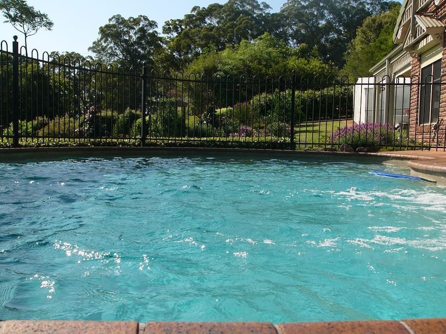 Awesome salt water pool to cool off in.