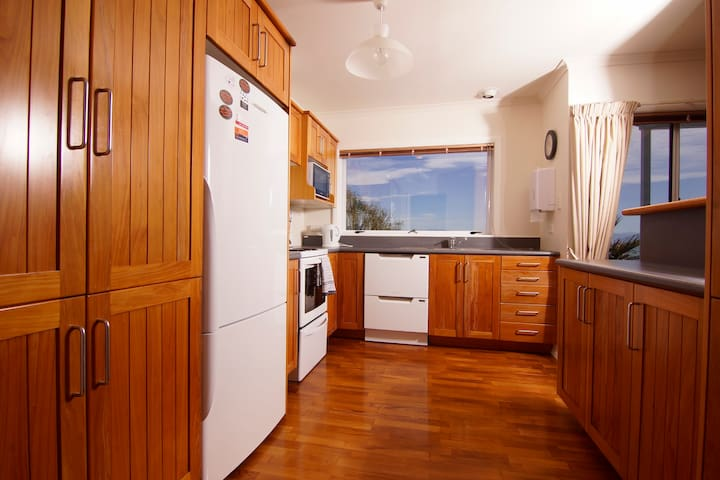 Comprehensively equipped kitchen.