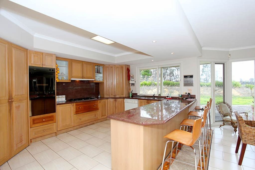 Open kitchen layout.