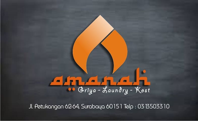 'AMANAH' Griya-Kost-Laundry Daily-Weekly-Monthly