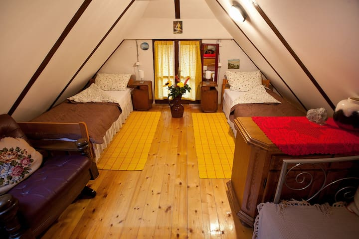 A comfortable attic for 2-3 persons