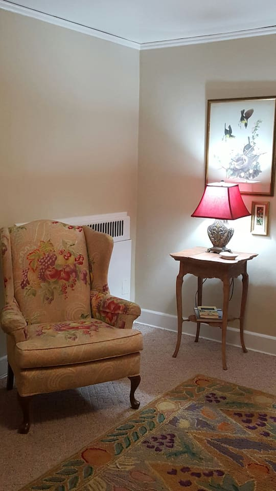 Comfortable wingback chairs...