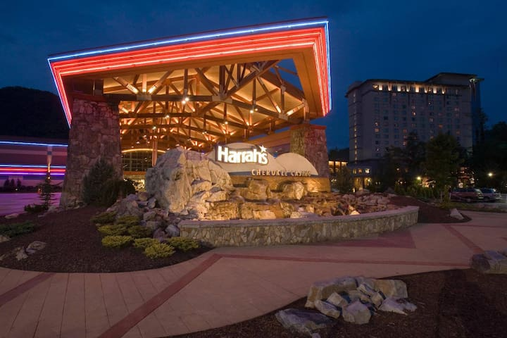 Harrahs Casino -  Cherokee.  Approx 15 miles from Maggie Valley