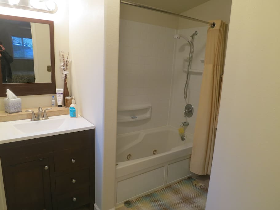 Guest master bathroom with jacuzzi tub