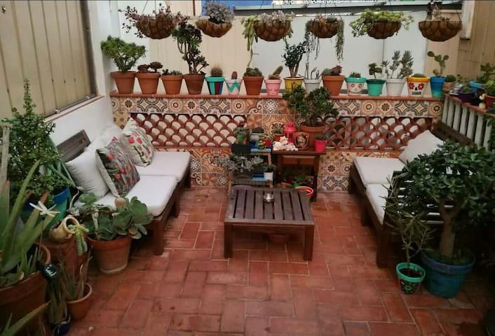 Balcón privado, Habitación individual Hidden House