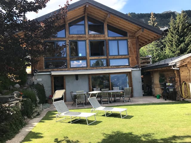 The chalet in summer