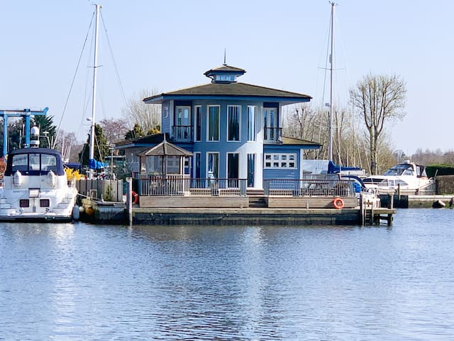 Riverside Flag House on the Norfolk Broads