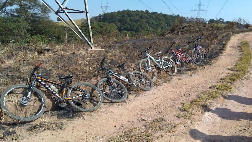 Passeio de Bike no Campo, c/ opção de alimentação