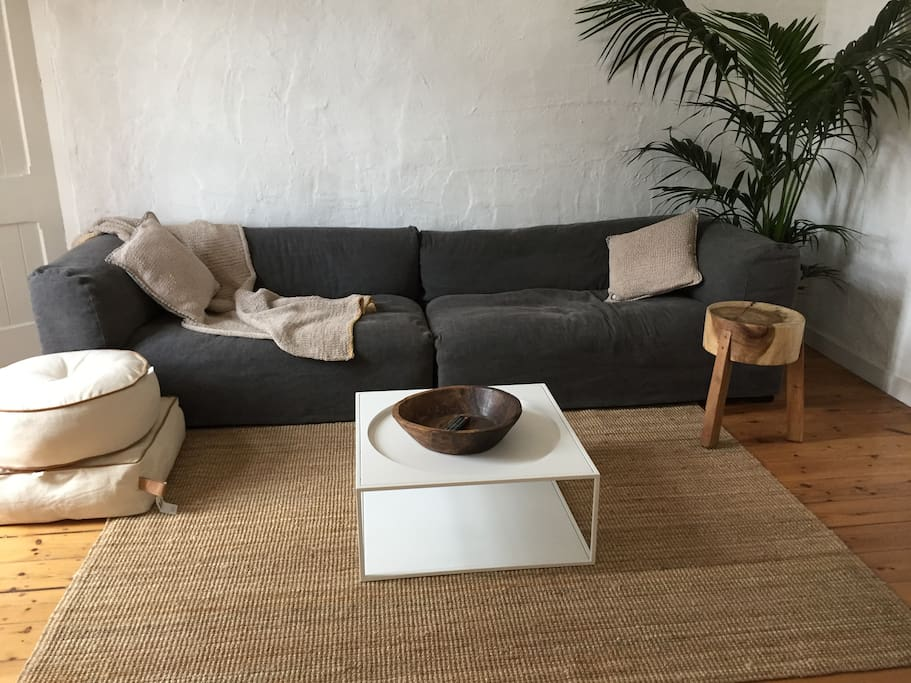Super comfy couch to sit and chill on a quiet night in with family and friends.