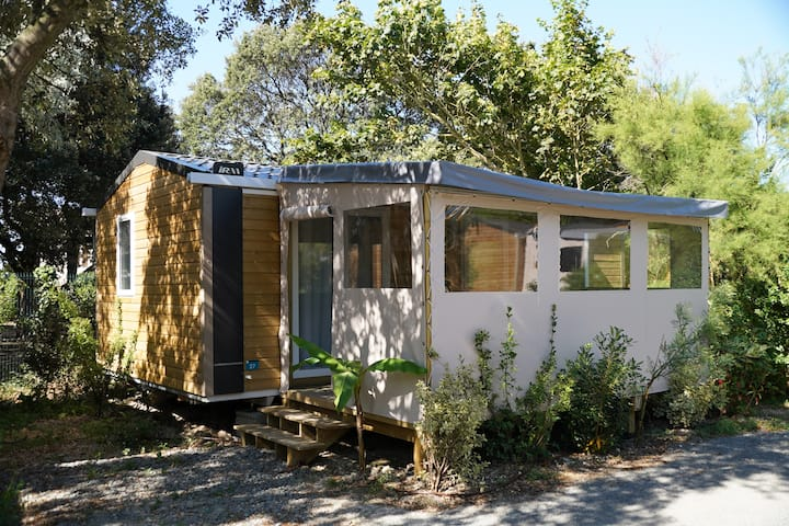 MOBIL HOME tout confort de 28 m² dans camping 3*
