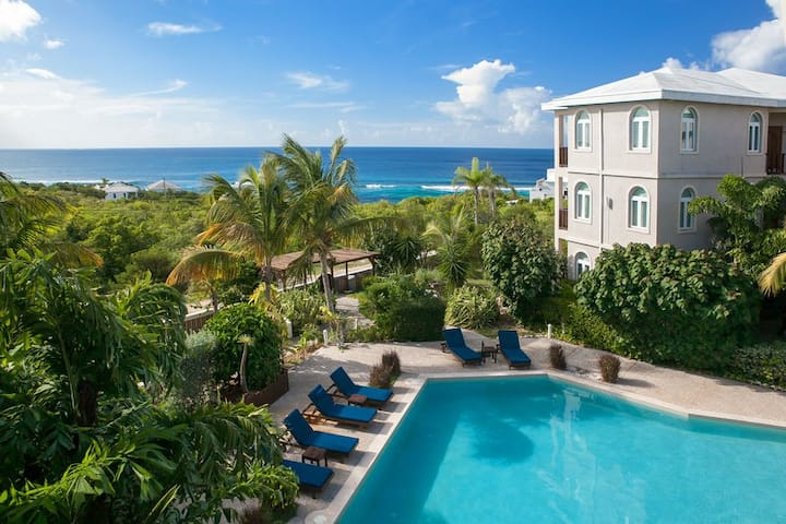 "Fountain Anguilla by ""Refined Retreats""~2 Qn Beds~Walk to Beach~Private Terrace!"