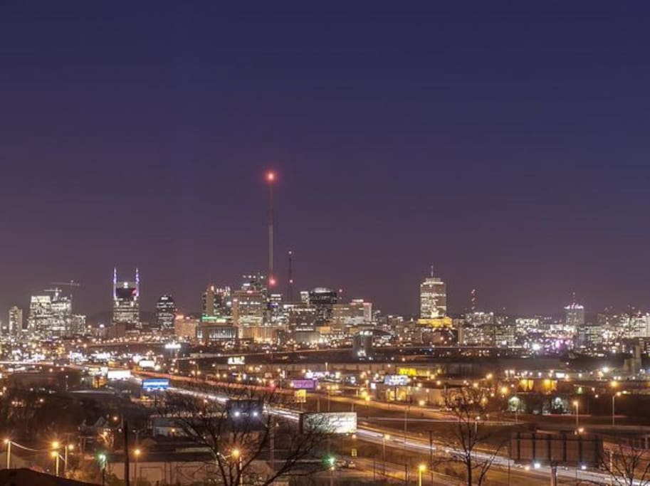Check out the view of Music City from the rooftop deck!