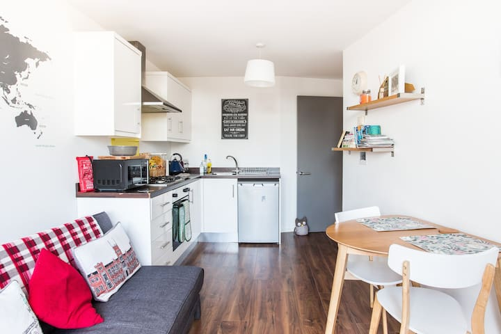 Fully fitted kitchen with all you need during your stay