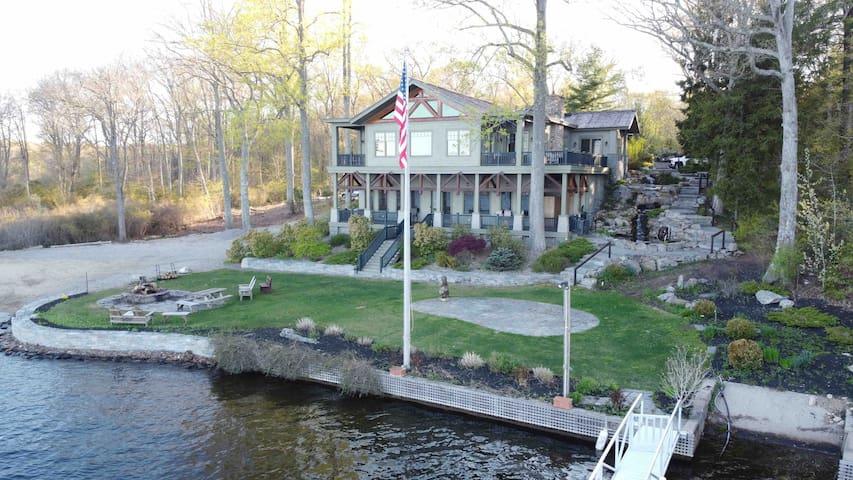Amazing Waterfront Adirondack Style Estate