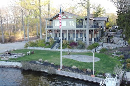 Amazing Waterfront Adirondack Style Estate