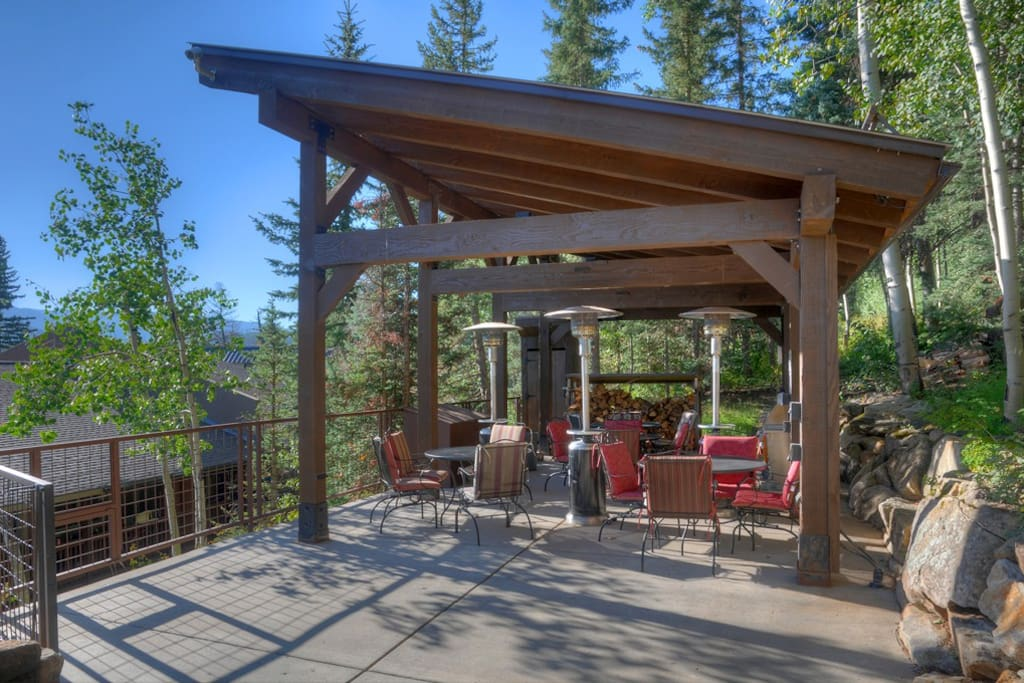 Gazebo and Outdoor Kitchen Adjacent to Hot Tub Deck