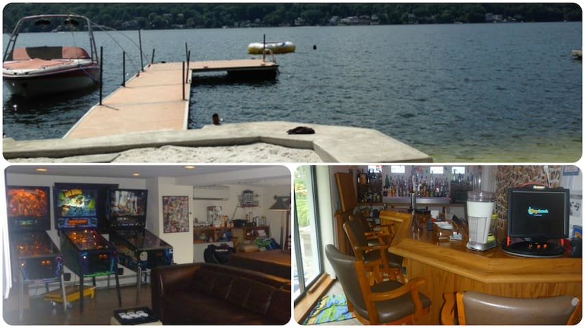 Lakefront-Beach-Gameroom-Hottub-Bar - Greenwood Lake - Σπίτι