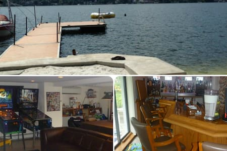 Lakefront-Beach-Gameroom-Hottub-Bar - Greenwood Lake - Ház