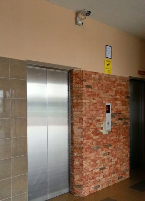 Lift with cctv