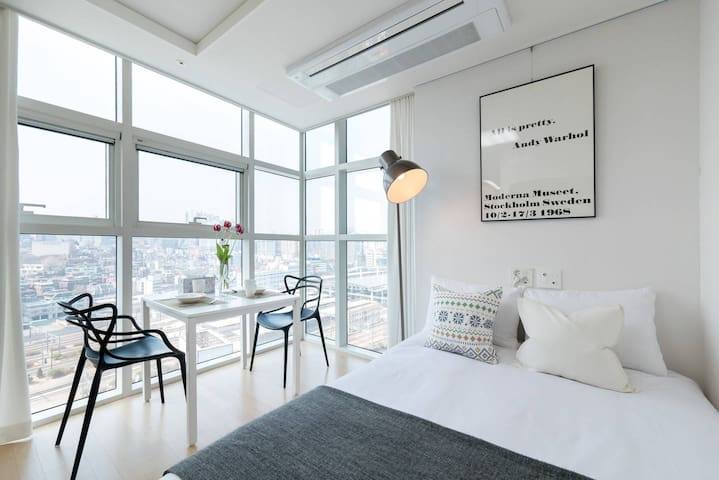 New Open F | Seoul Station | Great View | Free Gym - Yongsan-gu - Huis
