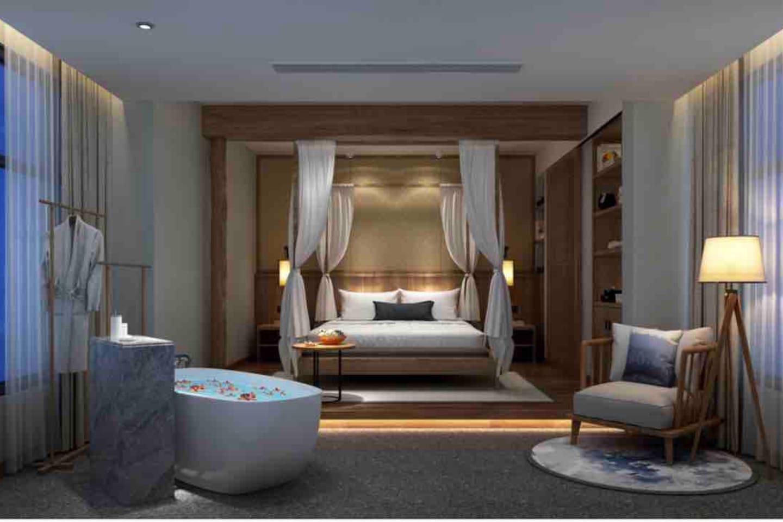 房间名:倾城—这是一间倾尽全城最豪华的景观房了