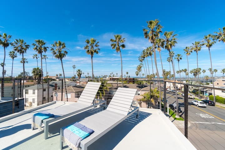 Steps to Beach, Rooftop Deck, Ocean View, (T1 up) - San Diego - House