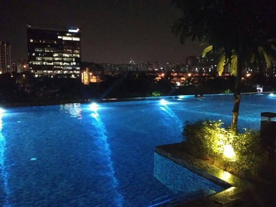 Infinity swimming pool, actual pool is much more beautiful than the photo.