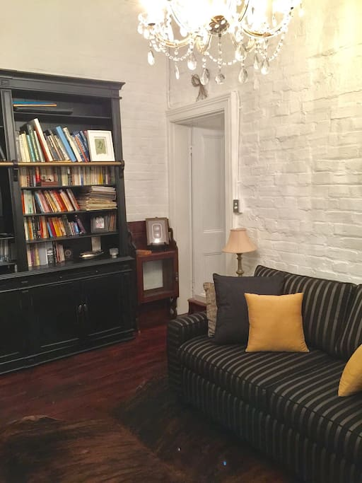 Comfortable,  stylish Lounge - Tv, DVD Player, DVDs, CDs and Library